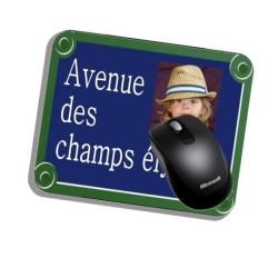 Tapis de souris personnalisé plaque de rue