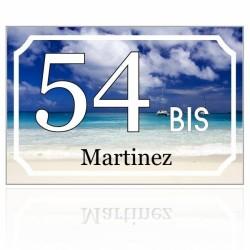 Numéro de maison personnalisé fond plage