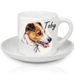 Tasse expresso photo chien