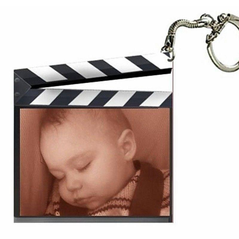 Porte clé photo clap de cinéma