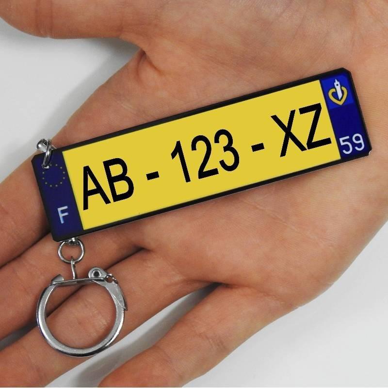 Porte clé Plaque immatriculation