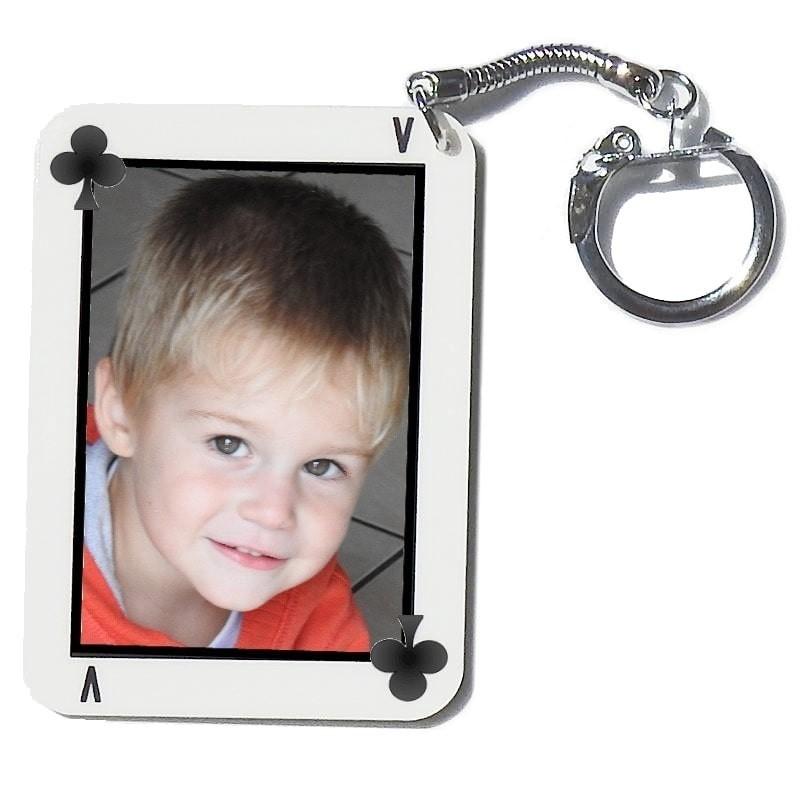 Porte clés carte de jeu personnalisée