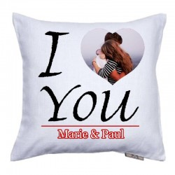 Coussin I love you à personnaliser