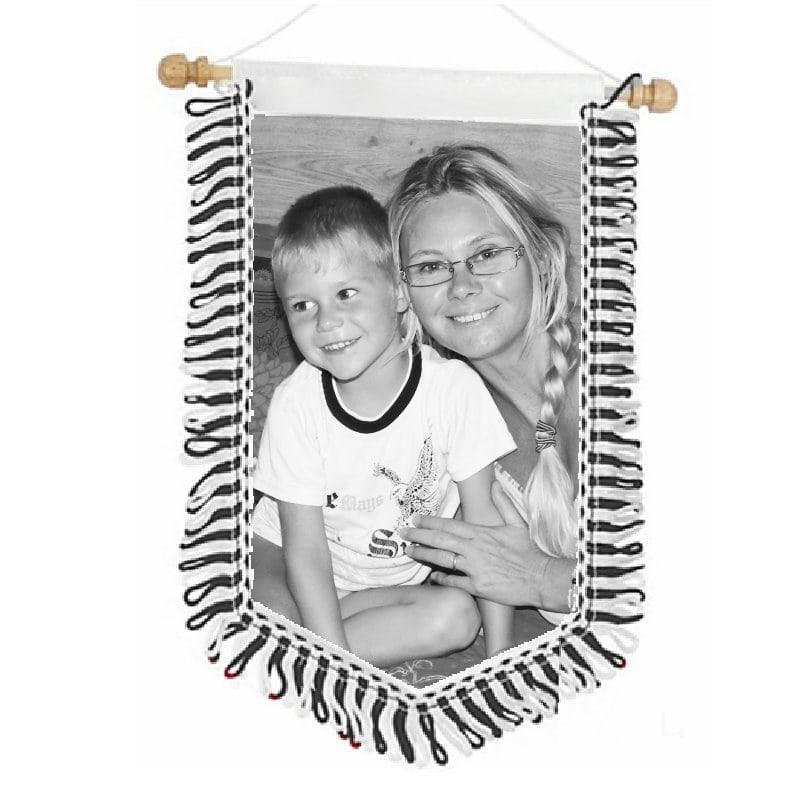Fanion personnalisé avec photo noir et blanc