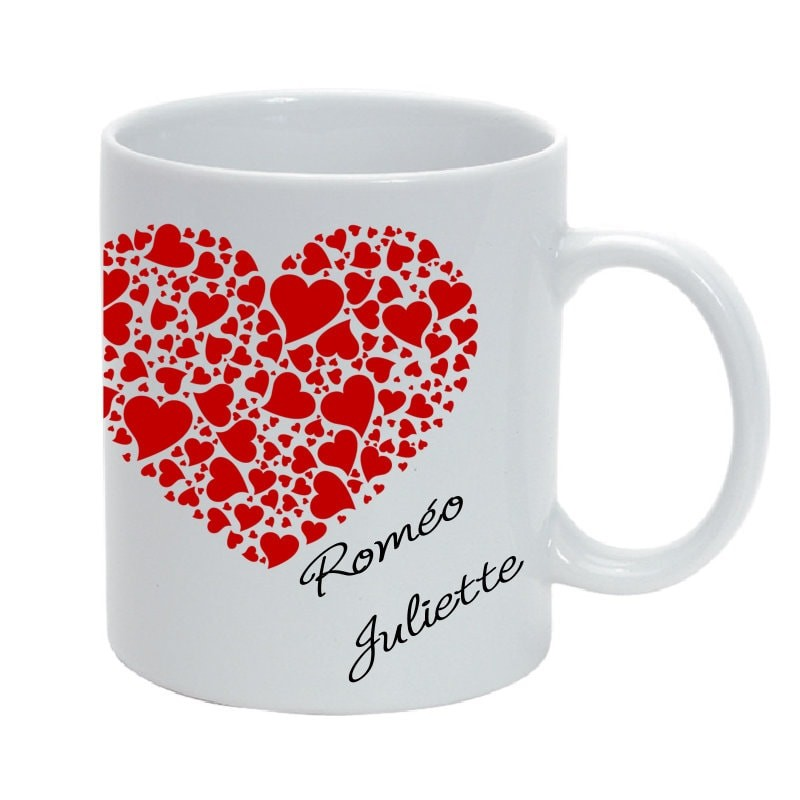 mug c ramique saint valentin personnalisable avec prenoms. Black Bedroom Furniture Sets. Home Design Ideas