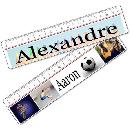 Règle personnalisée photo / texte