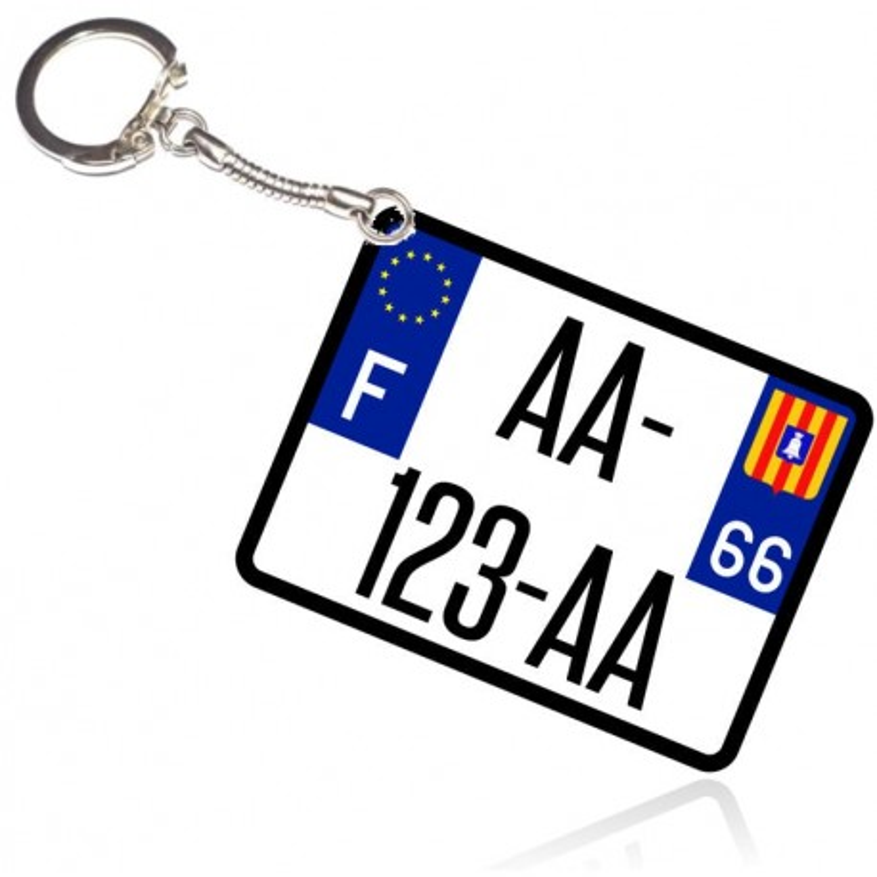 Porte clé Plaque immatriculation moto