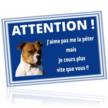 Plaque attention chien succeptible