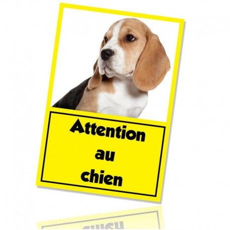 Plaque de garde attention chien