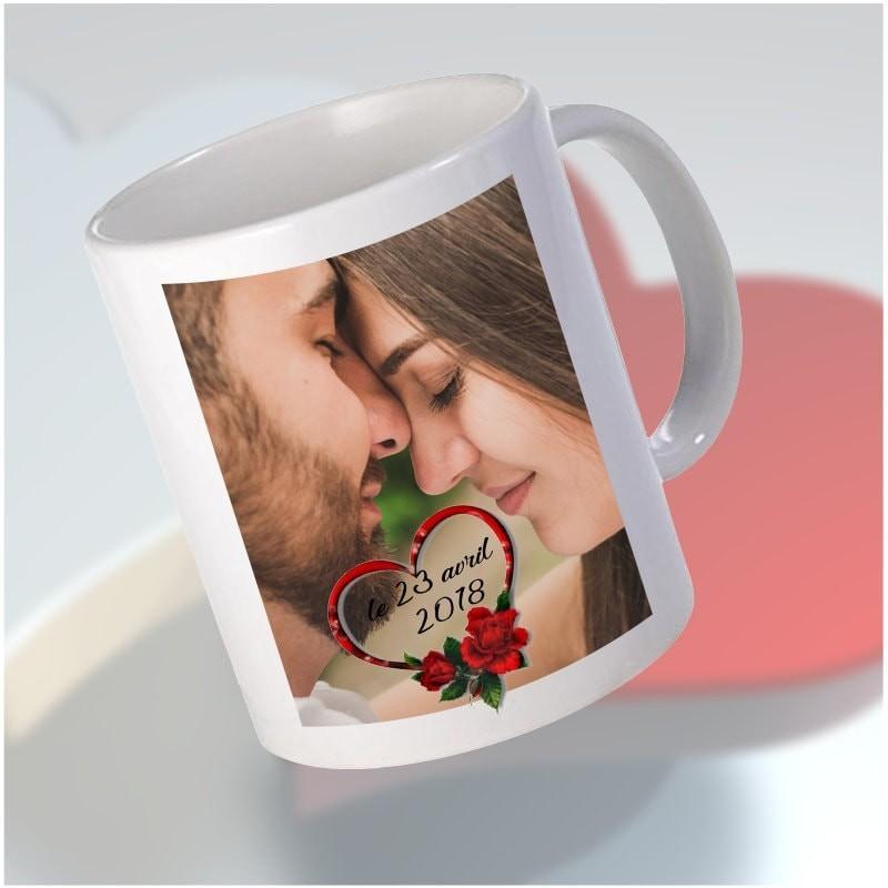 Mug thème amour personnalisable
