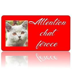 Plaque chat férose