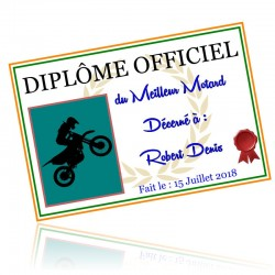 Diplome personnalisable
