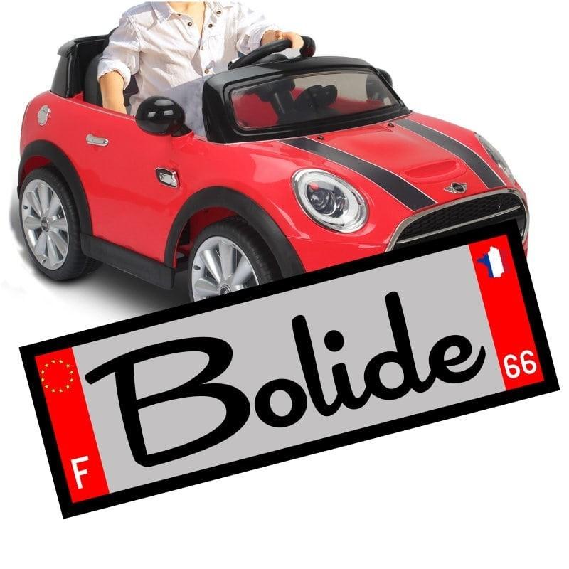 Petite plaque d'immatriculation voiture enfant