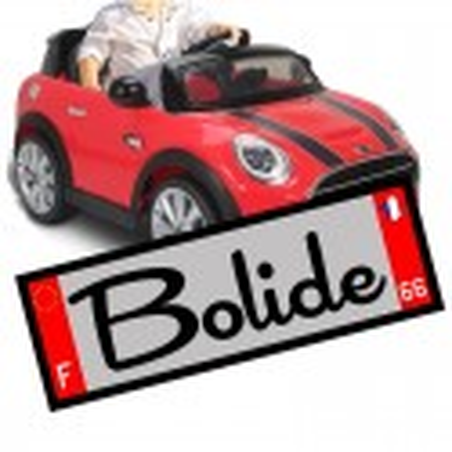 Plaque d'immatriculation voiture électrique enfant