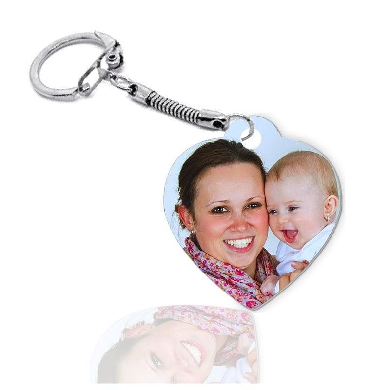 Porte-clés coeur personnalisé avec photo