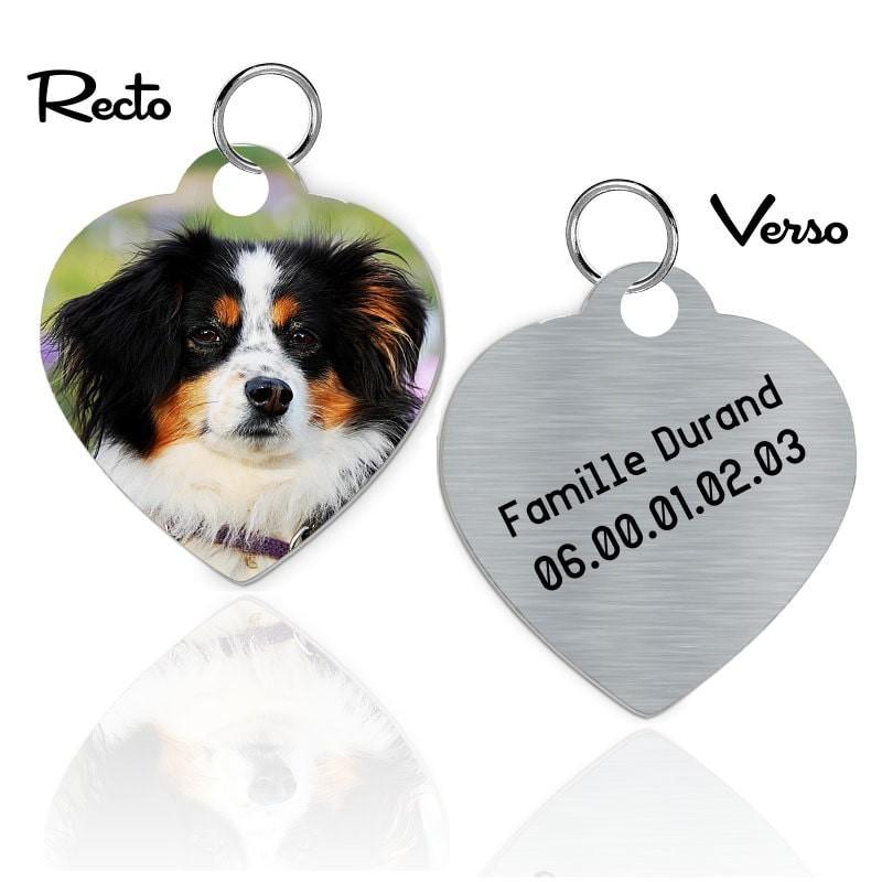 Médaille d'identité personnalisée pour chien