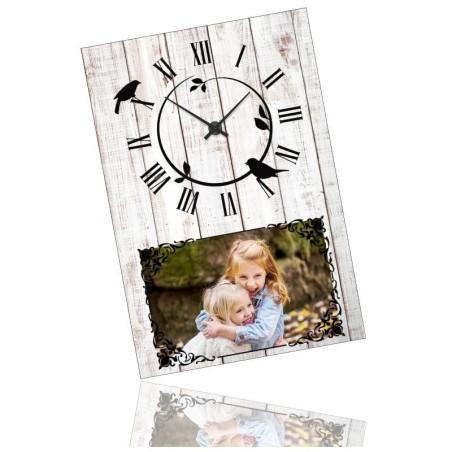 Horloge personnalisée rectangle