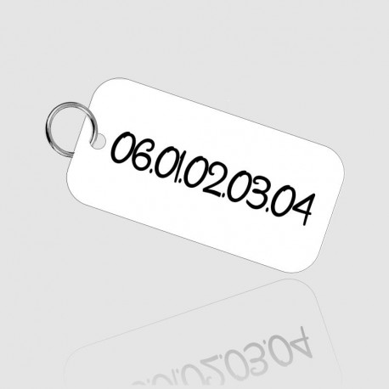 Médaille d'identification en aluminium