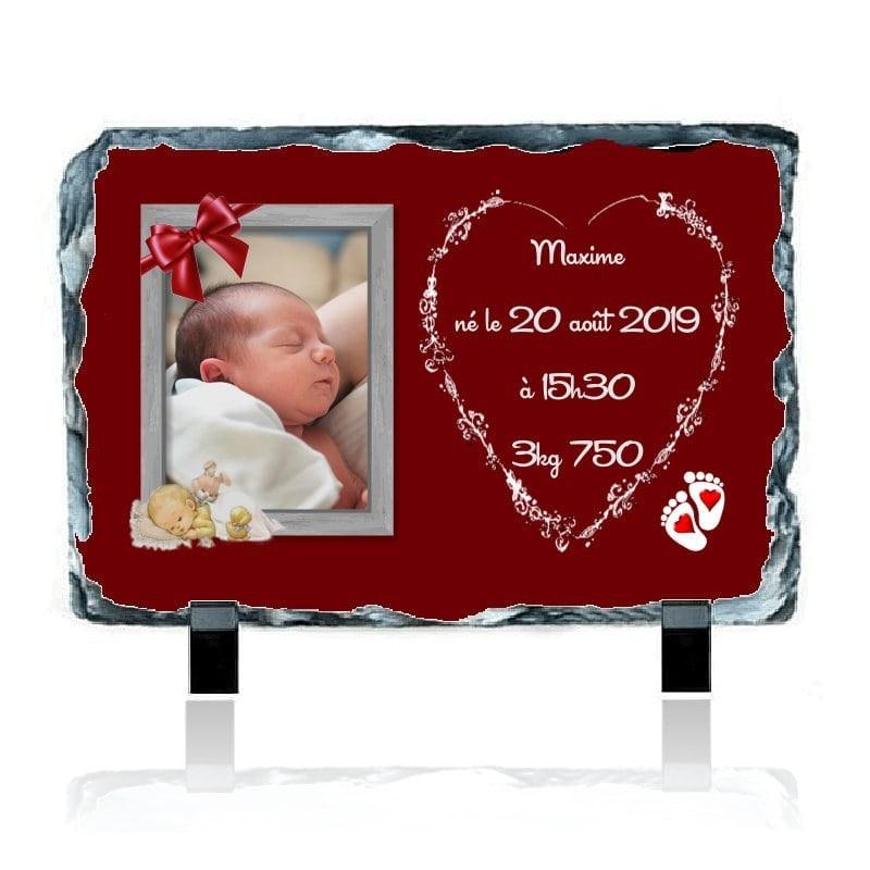 Ardoise stats de naissance à personnaliser