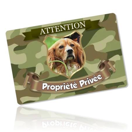 Plaque propriété privée thème chasse
