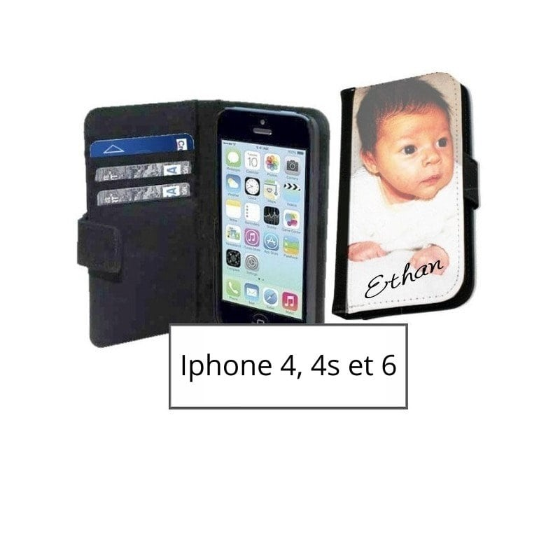 etui portefeuille iphone personnalise
