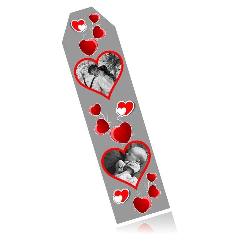 Marque Page aluminium thème cœur