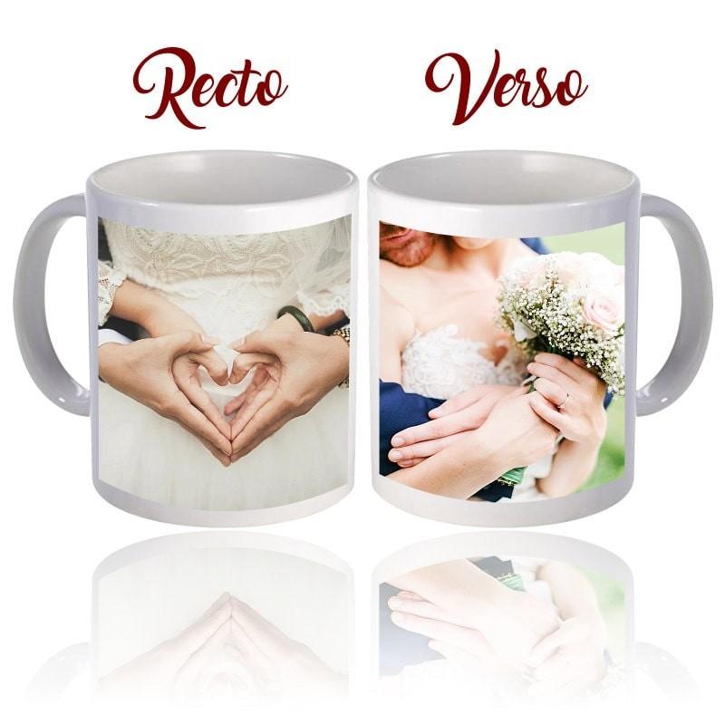 Mug personnalisé avec 2 photos