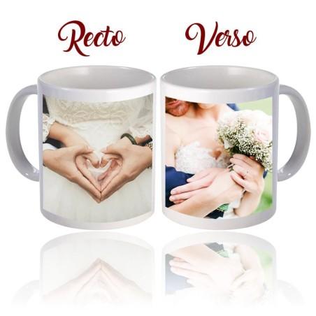 Mug céramique avec deux photos