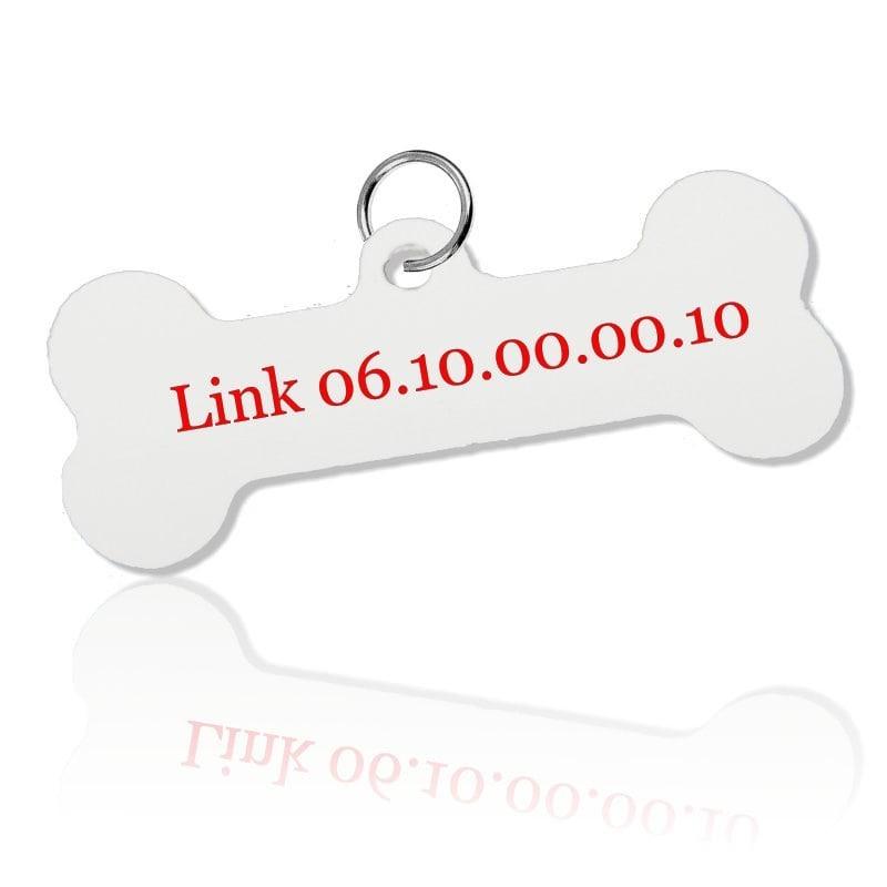Médaille pour chien personnalisée forme os