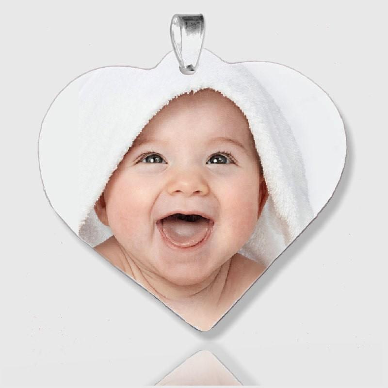 Pendentif cœur personnalisable avec photo
