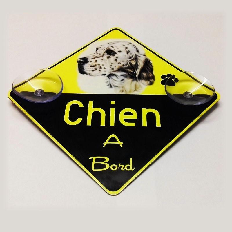 Plaque personnalisable chien à bord