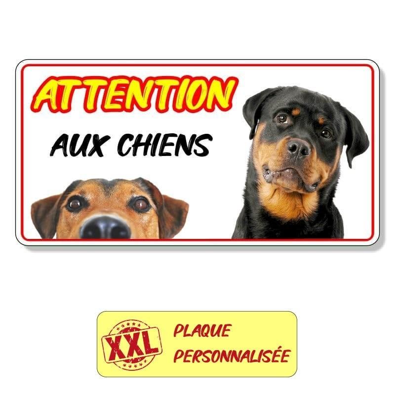 Plaque chien grand format avec photos
