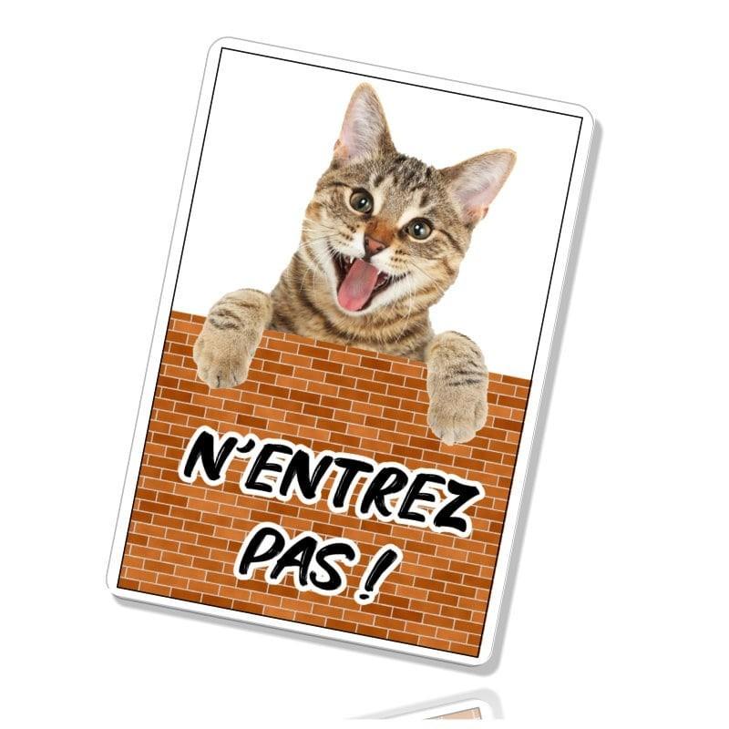 Plaque attention au chat