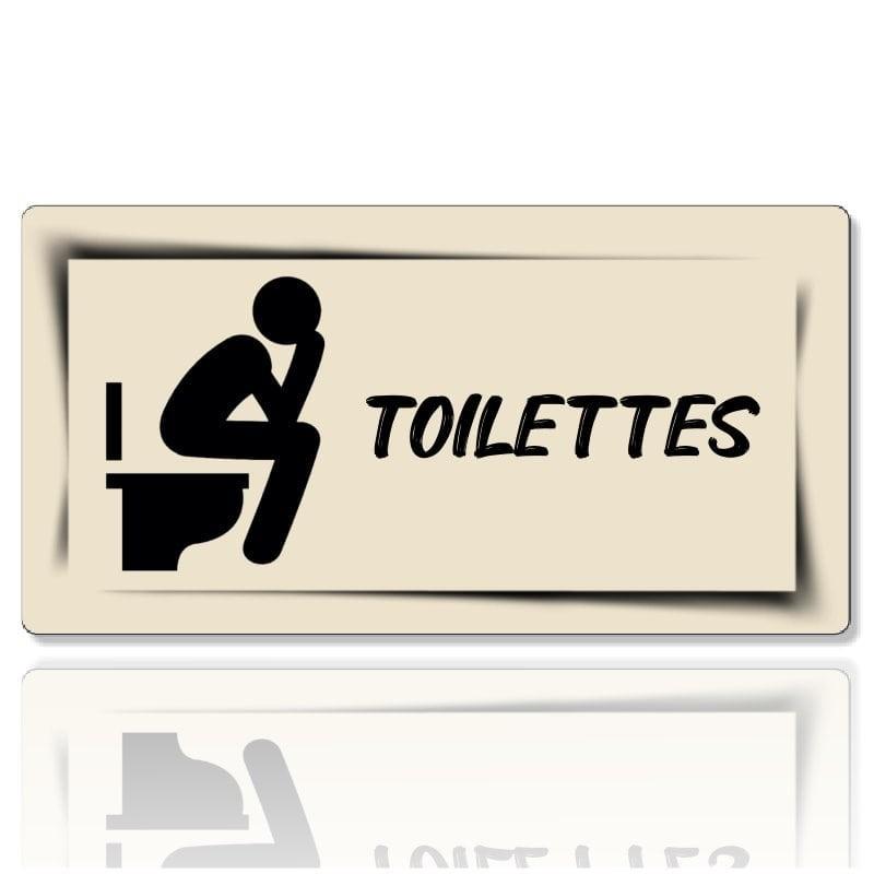 Plaque de porte toilette personnalisable