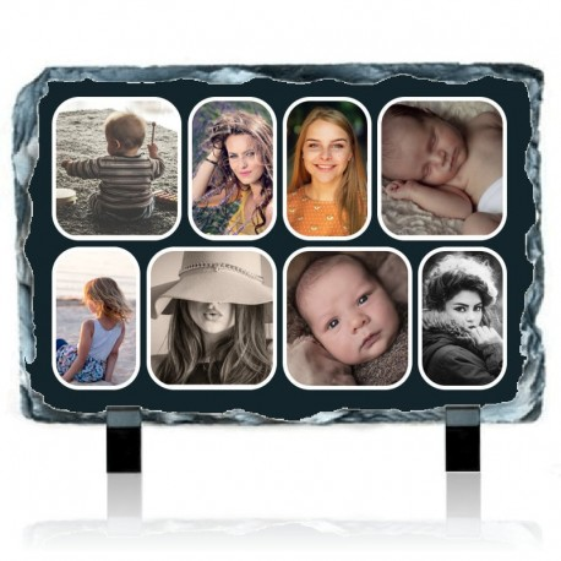 Ardoise personnalisée avec 8 photos