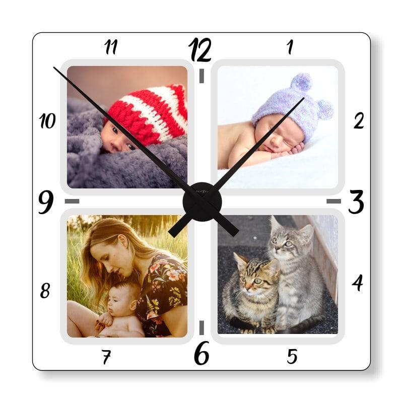 Horloge personnalisée avec 4 photos