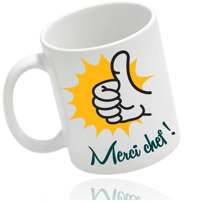 "Mug ""merci"" personnalisé"