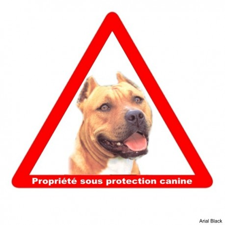 Plaque triangulaire attention au chien