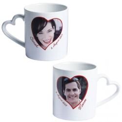 Mug céramique coeur duo